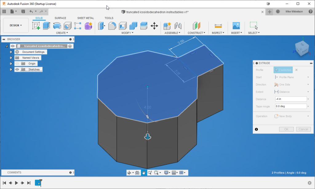 Picture of Fusion 360 Step-by-Step Instructions