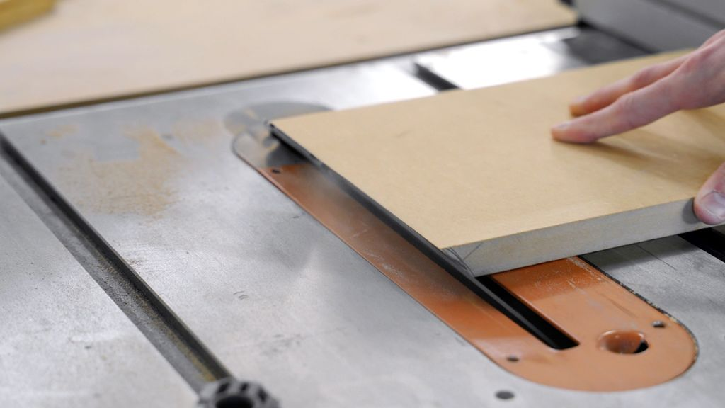 Picture of Cut the MDF Strips at an Angle