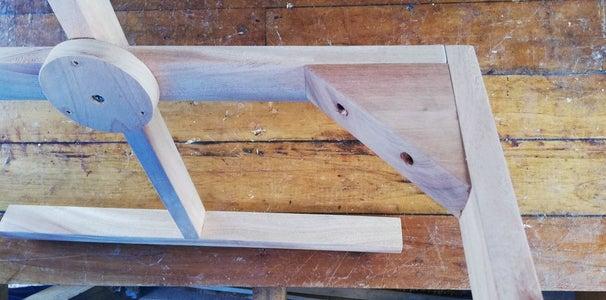 Screw the Triangular Wooden Brackets