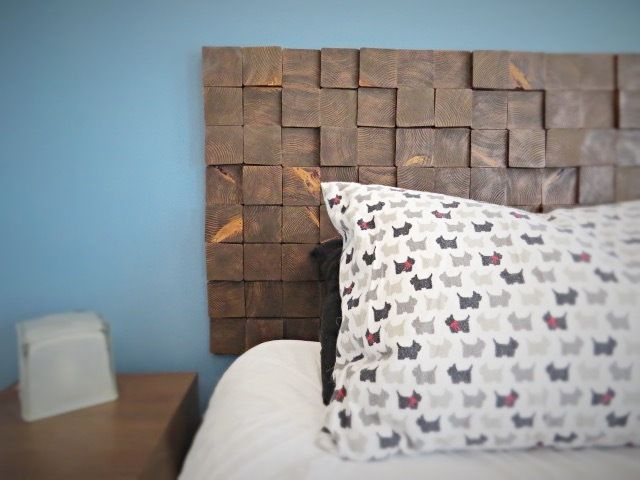 Picture of Removable Wood Block Headboard