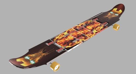 Long and Short Dual Purpose Skateboard