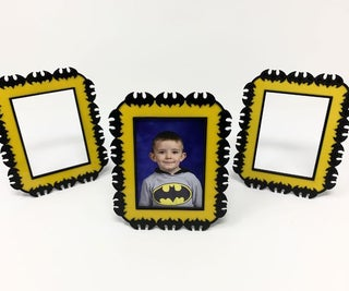 """Batman"" Themed Picture Frame"