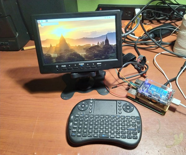 Learn How to Make a Portable Battery Powered Monitor That Can Also Power a Raspberry Pi