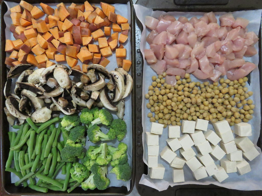 Picture of Chop Up the Vegetables and Proteins