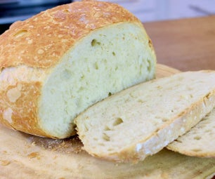Lazy Man Bread   4 Ingredients Bread Recipe   No Knead   No Machine