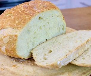 懒人面包| 4配料面包食谱|不揉|不机器