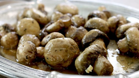 Roasted Mushrooms With Browned Butter, Garlic and Thyme Sauce