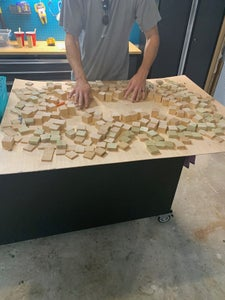 Cut and Sand the Wood Blocks