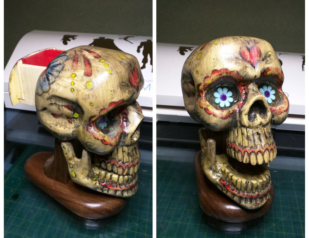 Picture of Wooden Sugar Skull