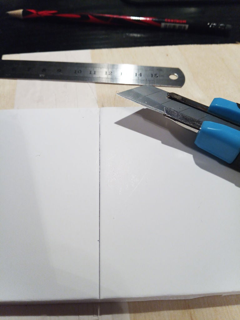 Picture of Cutting the Foam/Card Board