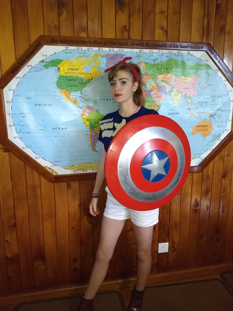 Picture of Captain America Shield From Wood With a CNC Machine