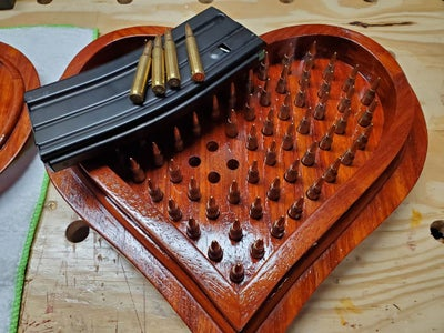 Freedom-Filled Padauk Heart Box