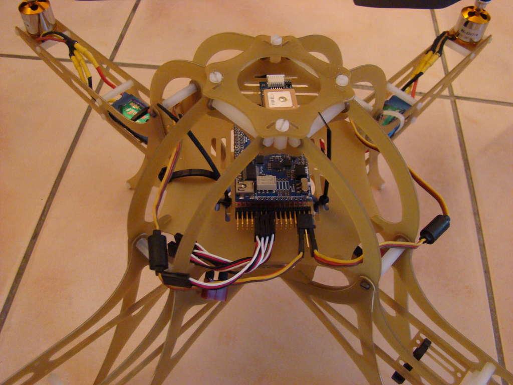 Picture of Quadcopter Frame Design (fiberglass).