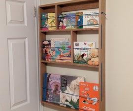 Narrow Bookshelf for Behind the Door Storage