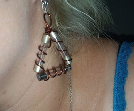 Glass Fuse and Copper Earrings