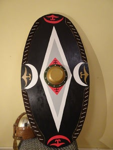 European Shield. Dacian Shield.How to Make a Wooden Shield Easily?