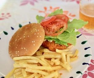 素食汉堡(蘑菇鹰嘴豆饼)