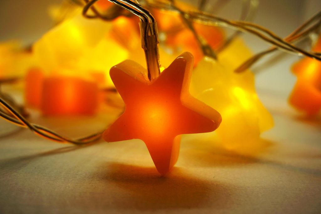 Picture of DIY Star Fairy Lights With Hot Glue
