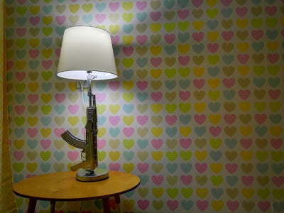 How to Make Lamp From Toy Gun and Ikea