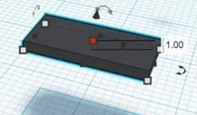 Picture of Drag Out the Cuboid (set to A2) and Change It to Black and Set the Size 12×6×1cm