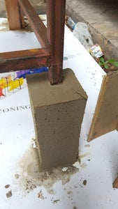 Pour Cement and Finishing Oil.