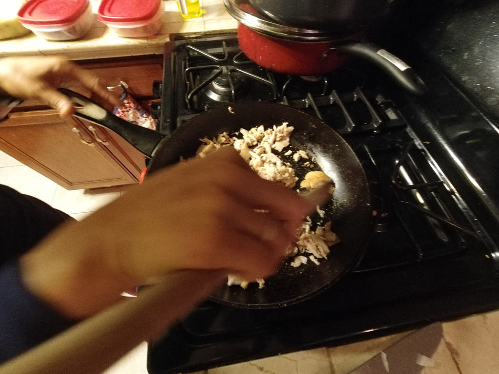 Picture of Cooking the Meat and Onions