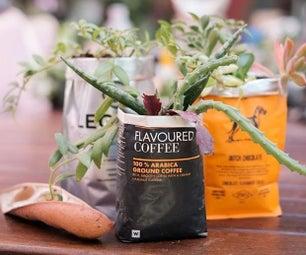回收咖啡袋……表装饰礼物…在活动中放置标记…