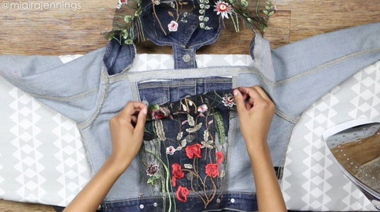 Attach Fabric Pieces