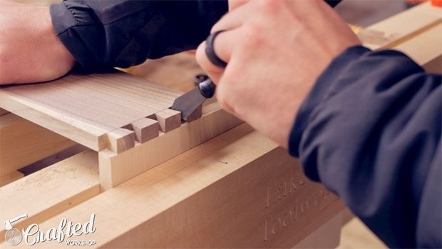 Cut the Pins Portion of Dovetails