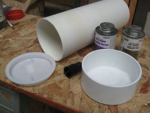 Picture of PVC Wren House Materials and Tools Needed