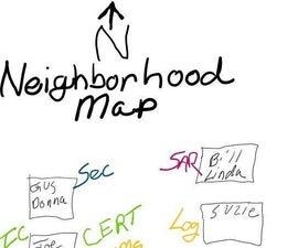Mapping My Neighborhood in Case of Emergency.