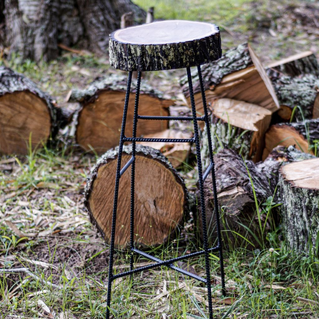 Picture of How to Make a Live Edge Bar Stool/Table