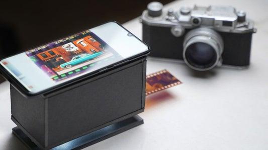 DIY Cardboard Smartphone Film Scanner