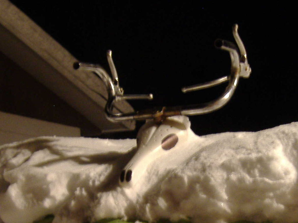 Picture of How to Recycle an Old Bicycle Into a Christmas Reindeer