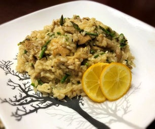 Homegrown Mushroom and Asparagus Risotto
