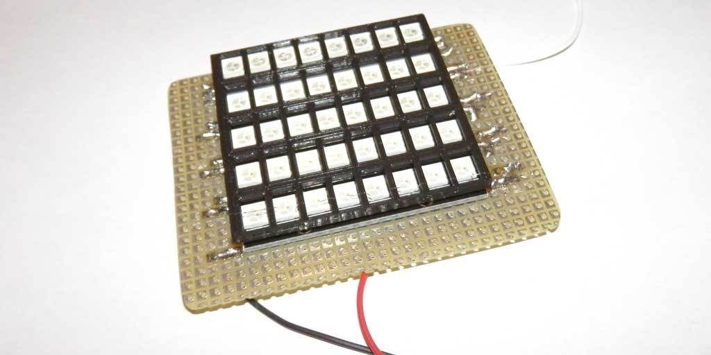 Picture of Hack in Neopixels Strips to Facilitate Soldering (I)