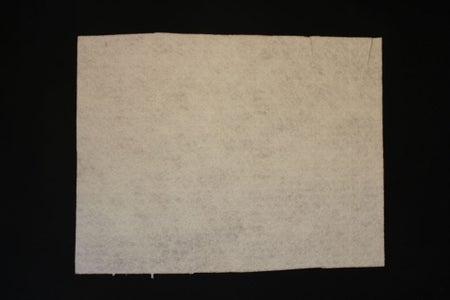 Cutting the Felt Sheet for the ThreadBoard