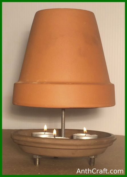 "Picture of Tea Candle and Ceramic Flower Pot ""heater"""