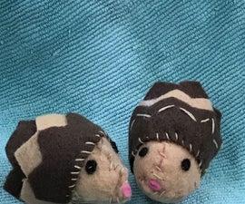 Cute, Hand Stitched Hedgehog