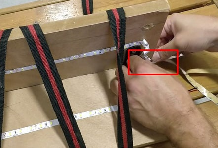 Connecting the Led Strip - Back