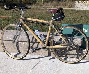 竹制自行车架
