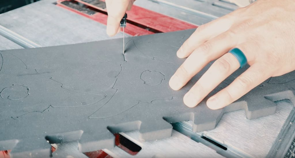 Picture of Cutting the Foam Shapes