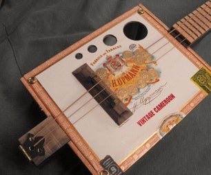 Cigar Box Three String Guitar