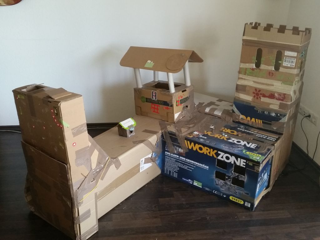 Picture of Cardboard Knights Castle for Kids