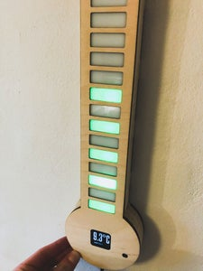 Digital RPi LED Thermometer