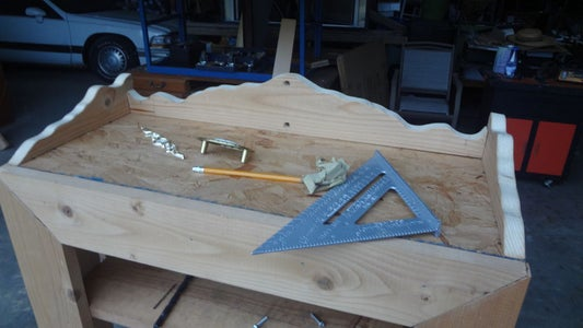 Cutting the Top Decorative Trim Pieces and Drilling Holes for Hardware Center Piece.