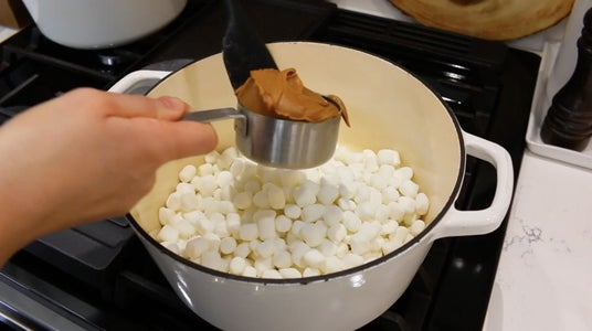 Melt Butter, Marshmallows and Spread