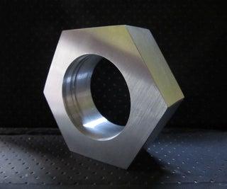Large Faux Aluminum Nut