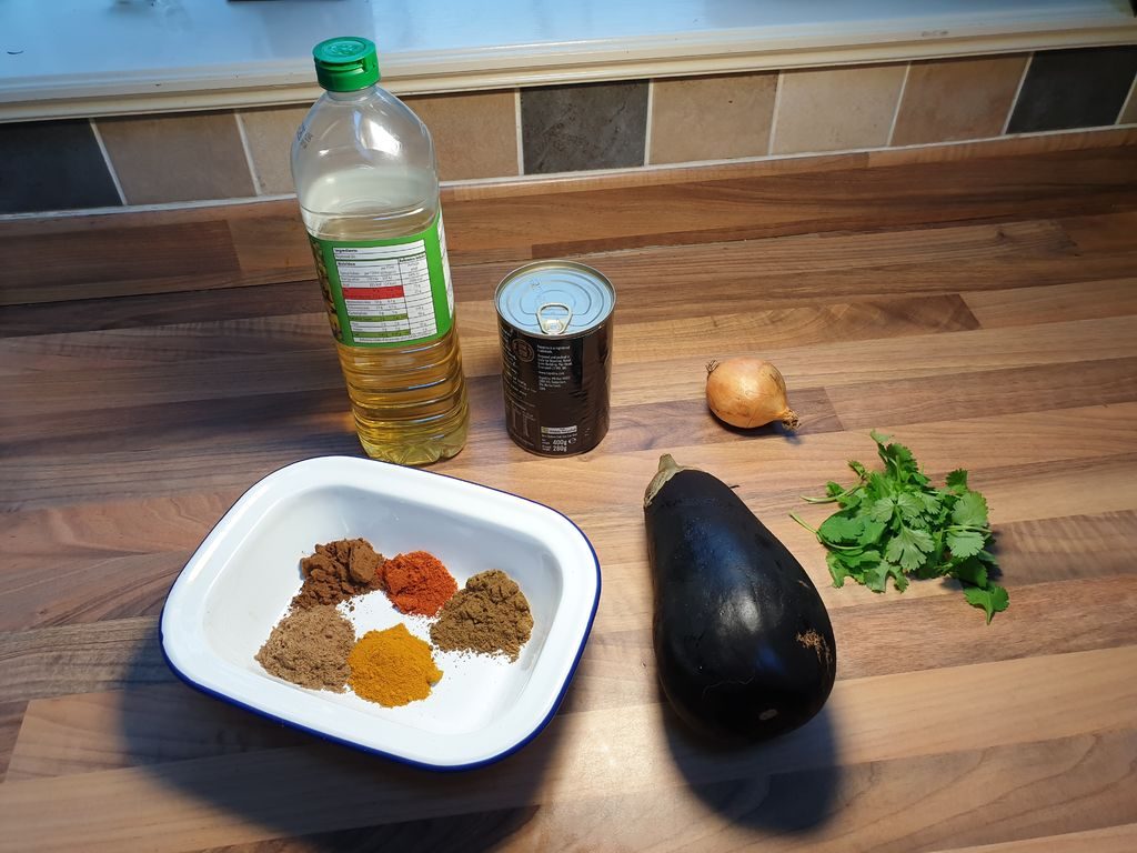 Picture of Incredible Aubergine Madras Using Indian Restaurant Curry Base