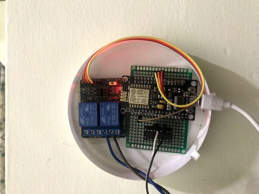 Picture of Micro-Controller and Electronic Components